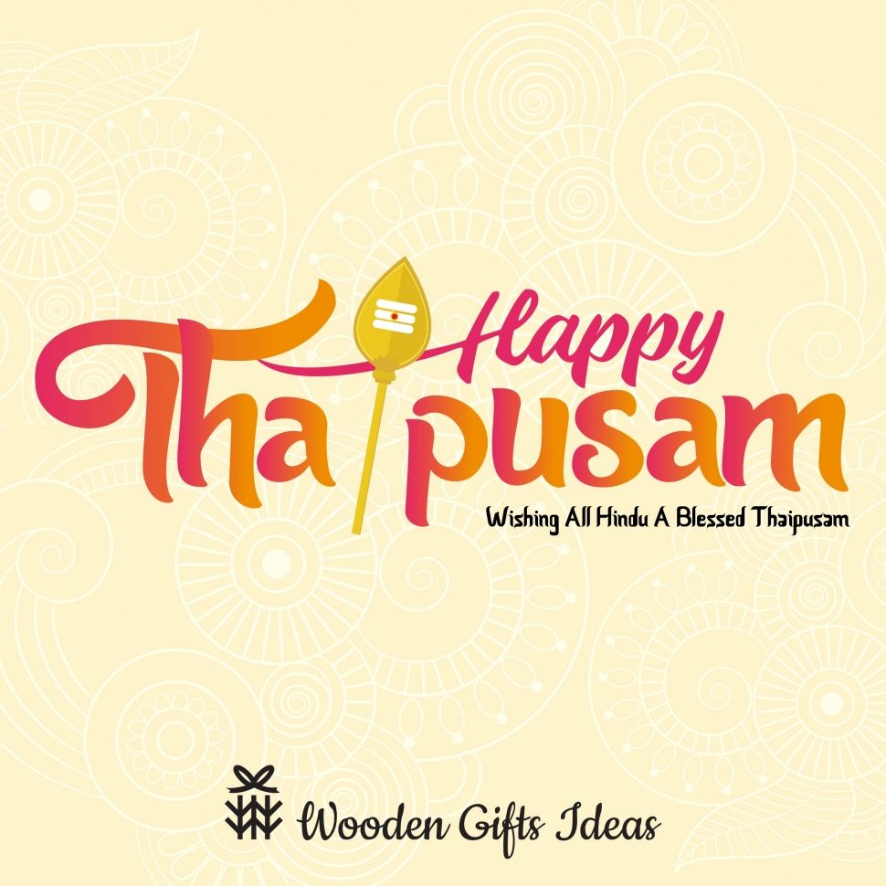 Happy Thaipusam 2020 from Wooden Gift Ideas