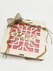 Mooncake Packaging Chinese Motif with Jute Ribbon