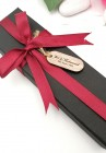 Packaging Box With Ribbon & Engraved Oval Tag