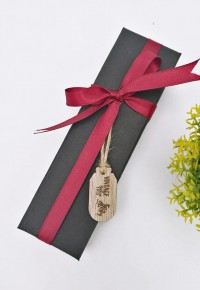 Packaging Box With Ribbon & Engraved Tag